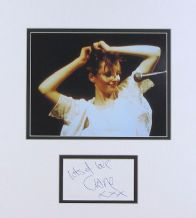 Clare Grogan Autograph Signed Display - Altered Images